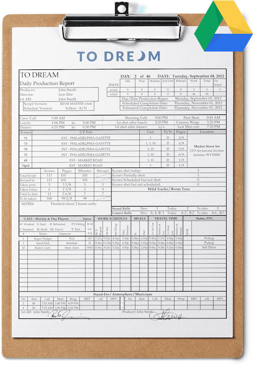 Daily Production Report Template Google Sheets Free Download - Production Report Template for Google Drive - Free Download -