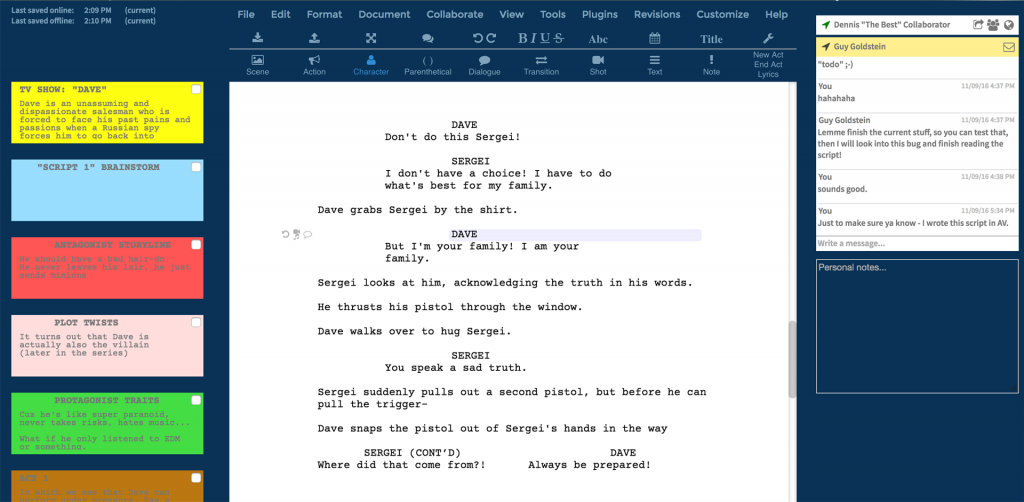 Writer Duet Screenplay Software 2020 1024x502 - The Best Script Writing Software For Screenwriters 2020 - tools-equipment, script, production-office, pre-production